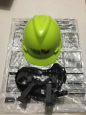 BRAND NEW!!! MSA Hard Hat Adjustable Suspension Neon Type I Helmet V-Gard