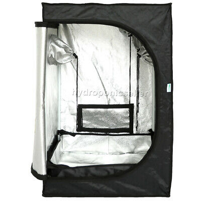 2'Lx2'Wx3'H Grow Tent Dark Room Box Reflective Silver Mylar Hydroponics Indoor