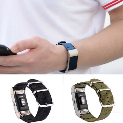 For Fitbit Charge 2!Men's Woven Nylon Replacement Watch Wrist Band Bangle Strap