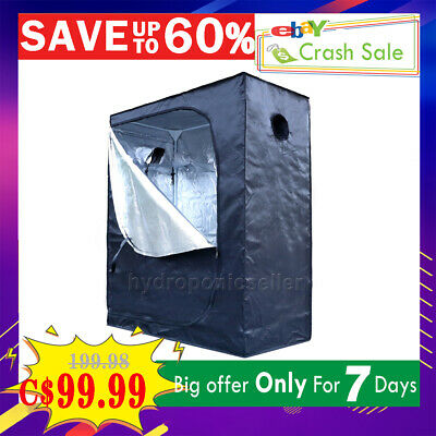 "32""x32""x63"" Indoor Grow Tent Room Reflective Silver Mylar Hydroponics Non Toxic"