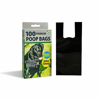 100 Premium Fragranced Extra Strong Premium Poop Clean Up Bags with Tie Handles