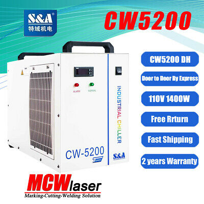 Industrial Water Chiller Cool 80KW Spindle CNC Tube CW-5200DH 110V 60HZ