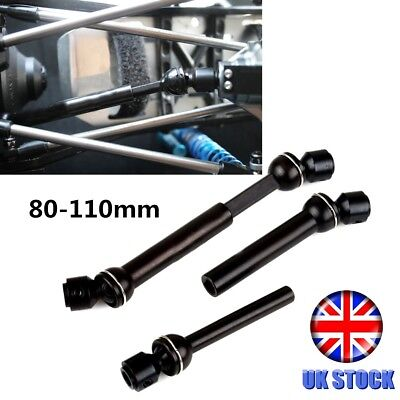 2PCS Steel Universal Drive Shaft 80mm-110mm for RC Model Car Truck Crawlers UK