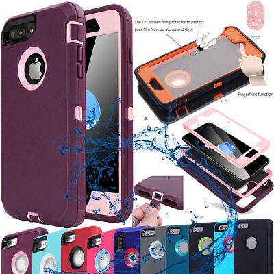 Tough Armor Heavy Duty Shockproof Case Cover for Apple iPhone X 7 8 6 6s Plus