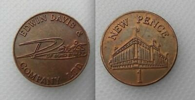Collectable Edwin Davies Bond Street Hull 1 Penny Token - Lot 1