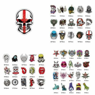 52Pcs Skull Stickers Skateboard Sticker Laptop Car Bomb Luggage Decals 2018