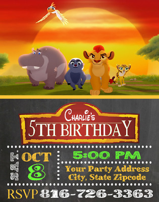 Lion King Guard Birthday Party Invitations Invites Personalized
