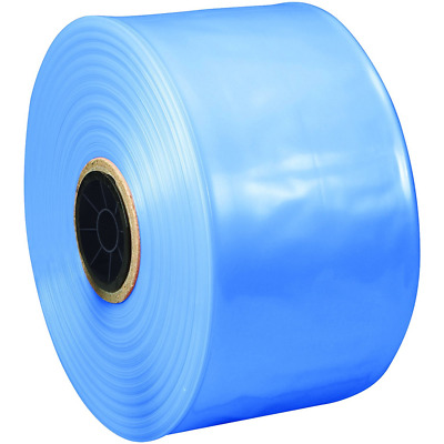 """Ship Now Supply SNVCIPT0404 VCI Poly Tubing, 4 mil, 4"""" x 500', 4"""" width, Blue"""