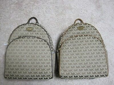 Michael Kors Large Backpack MK ABBEY Handbag Bag - Java or Luggage Color