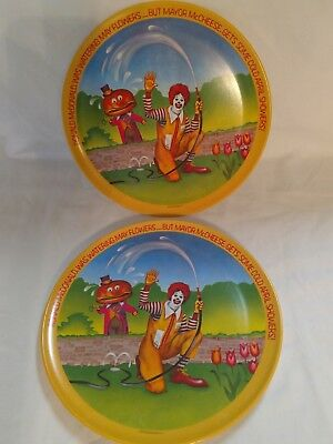 1977 McDonald's Plates (2) Watering May Flowers