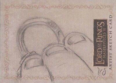 """Lord of the Rings Masterpieces II - Kevin Doyle """"The One Ring"""" Sketch Card"""