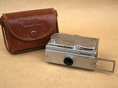 Mamiya Super 16 subminiature Spy Camera with Case Rare Vintage Collectible