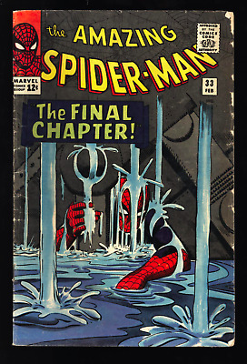 Amazing Spider-Man #33 GD/VG OW Classic cover and story Dr Curt Connors app