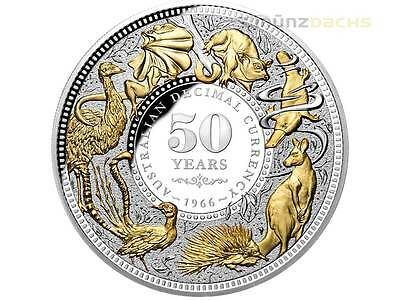 $10 50th Anniversary Decimal Changeover Niue Island 5 oz Silver 2016 Proof