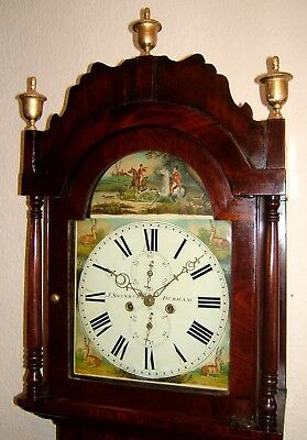 Beautiful Victorian Mahogany and inlaid Longcase Clock C1840
