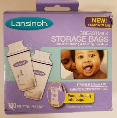 Lansinoh Breastmilk Storage Bags With Convenient Pour Spout and Patented Double