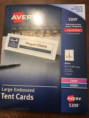 Avery Table Tents The Best Table - Large table tent cards