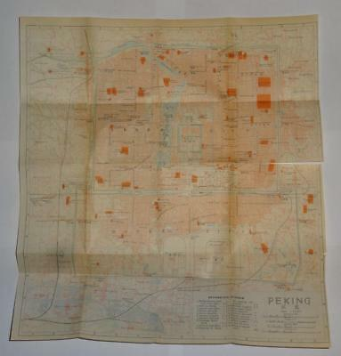 1915 IMPERIAL JAPANESE RAILWAY MAP of PEKING BEIJING CHINA