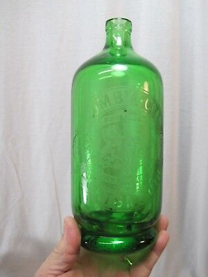 Green (rare color) Mumby & Company Portsmouth Siphon Seltzer Bottle B8143