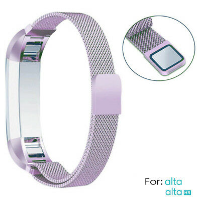 NEW Color purple Band Stainless Steel Strap Replacement for Fitbit Alta/ Alta HR