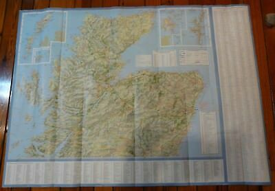 Scotland 2 Sided Tourist Road Map 2000 made by Collins
