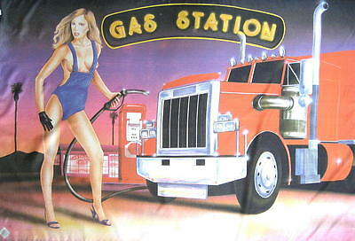 Truck Flagge Fahne Posterflagge Gas Station