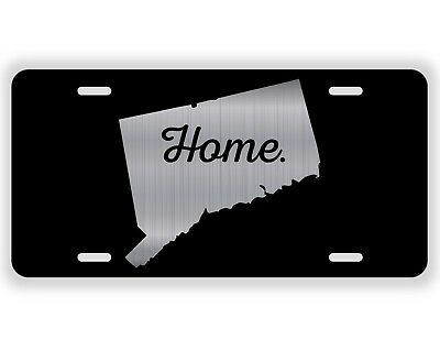 Connecticut State Flag License Plate Tag Vanity Front Aluminum 6 Inch By 12 Inch