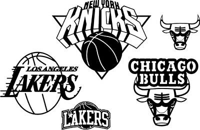 DXF CDR and EPS File For CNC Plasma or Laser Cut - NBA LOGOS. Ready to cut