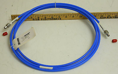 "Storm Microwave 10' Low Loss True Blue .290"" SMA Male Coaxial Cable DC-18GHz NOS"