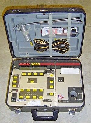 Enerac 2000 Portable Combustion Analyzer Gas Emissions Tester