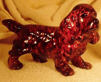 Dog Figurine SUSSEX SPANIEL Porcelain Standing 1980's England VERY NICE