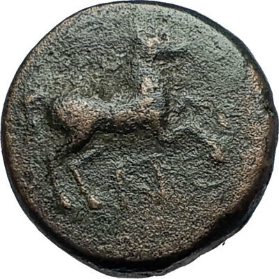 MARONEIA Thrace 400BC Authentic Ancient Greek Coin w HORSE & WINE GRAPES i67860