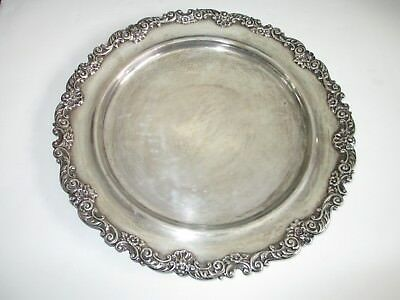 "Antique Gorham Sterling Silver large dish plate A2105, 14"", 1394g"