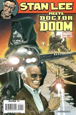 Stan Lee Meets Doctor Doom #1 in Near Mint - condition. FREE bag/board