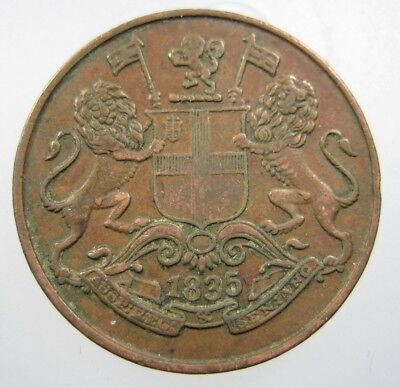 INDIA BRITISH 1/4 ANNA 1835 EAST INDIAN Co LIONS 14# WORLD MONEY COIN