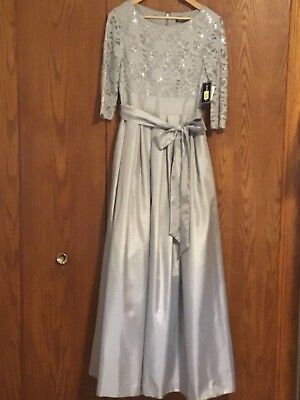NWT Jessica Howard Gray Long Formal Dress Size 6