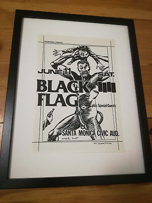 BLACK FLAG Poster-punk-1980- Raymond Pettibon Flyer-Punk-Lp