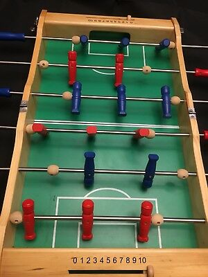Charming Pottery Barn Kids PORTABLE FOOSBALL TABLE TOP WOODEN GAME: Folds And Latches