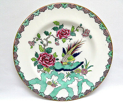 Vintage Crown Staffordshire England Bone China ROCK BIRD Salad Dessert Plate