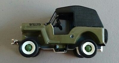 Dept. 56 1954 Willy's CJ3 Jeep Classic Cars Retired 2002 Snow Village 55287 New