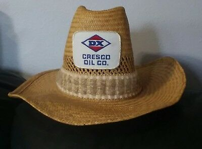 Cresco Dx Oil Co Straw Hat Mfd By United Hatters Cap & Millenery Co Workers Int