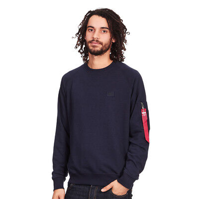 Alpha Industries - X-Fit Sweater Replica Blue Pullover Rundhals