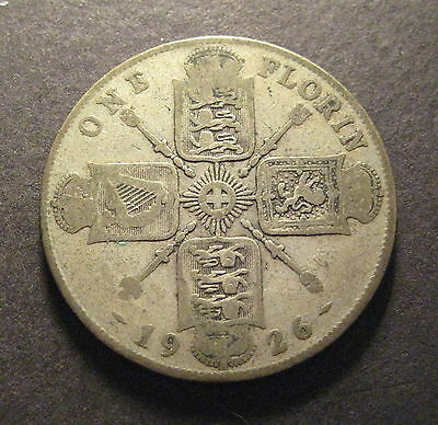 1926  Great Britain Florin, Two Shillings - Silver -* No Reserve * - (L858)