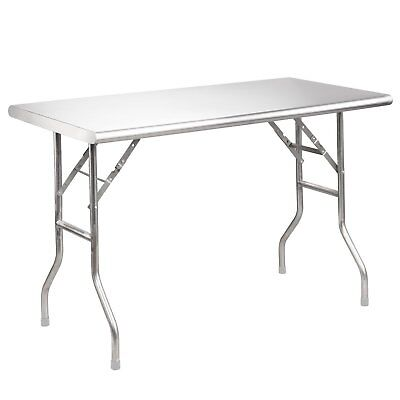 """OpenBox Royal Gourmet Stainless Steel Folding Work Table, 48"""" L x 24"""" W"""