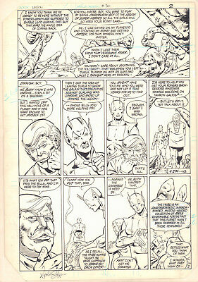 Legion of Super-Heroes #301 p.2 Chameleon Boy 1983 Signed art by Keith Giffen