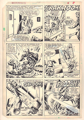 Micronauts #36 p.6 - All Action 1981 Signed art by Keith Giffen & Danny Bulanadi