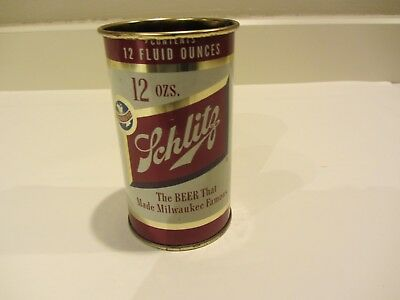 Jos Schlitz Brewing 1954 Flat Top Beer Can Milwaukee Wisconsin 129-29