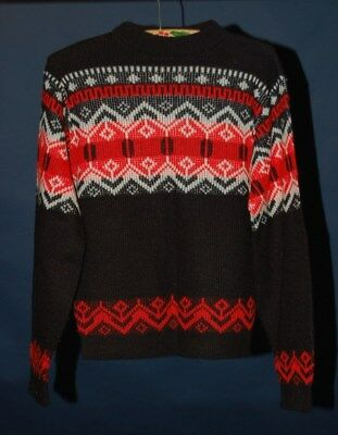 Vintage 60's Boy's Sweater (Red/Black/White)(Large)