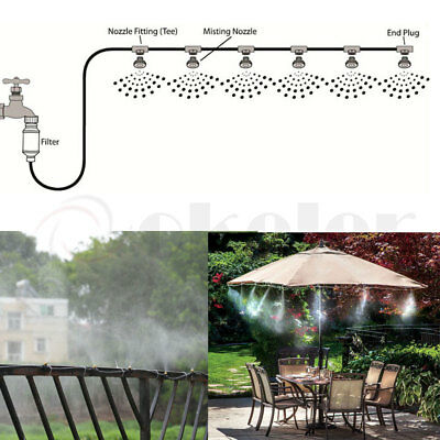 6m Misting Fan Ring Kit Misty Mate Cool Patio Air HOT Days Great for Outdoors