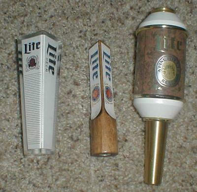 Miller Lite Various Tap Knobs Mint Never Used